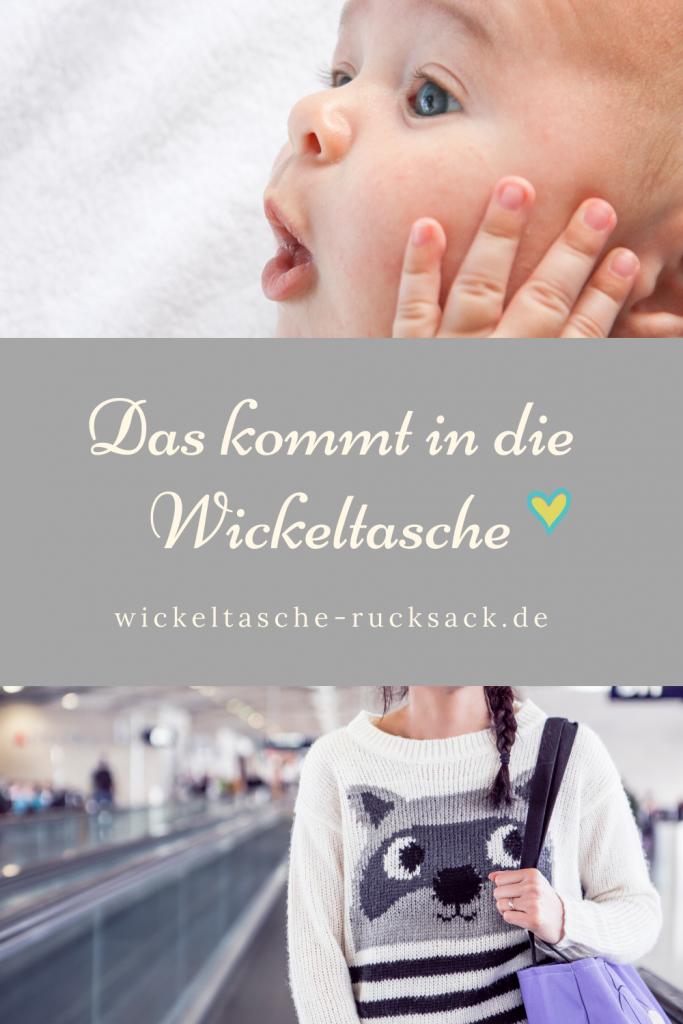was kommt in die wickeltasche - baby untensilien checkliste