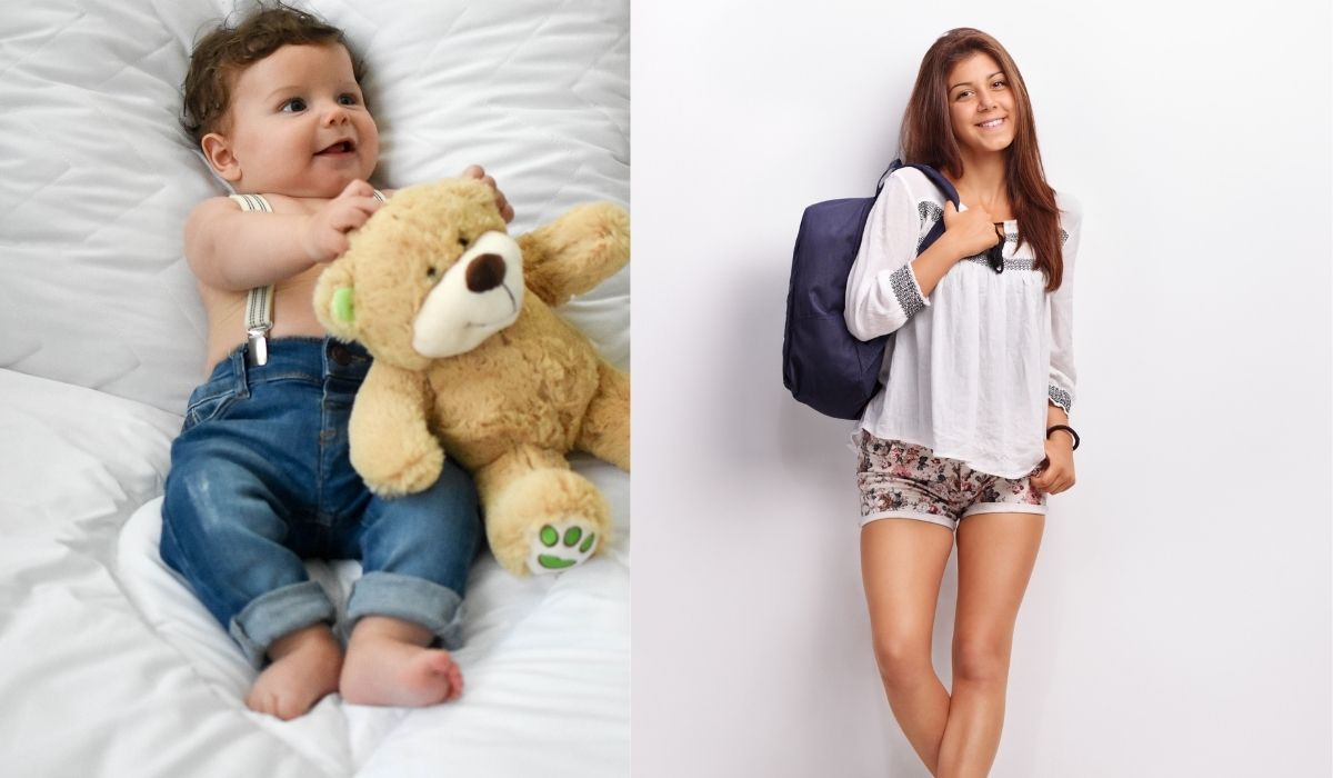 dunkelblauer baby rucksack