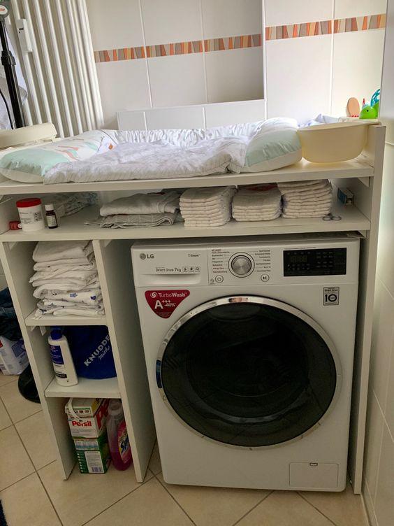 wickelkommode ersatz wickeln auf waschmaschine