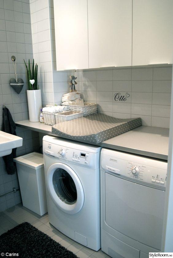 schöne wickelstation auf der waschmaschine gestalten