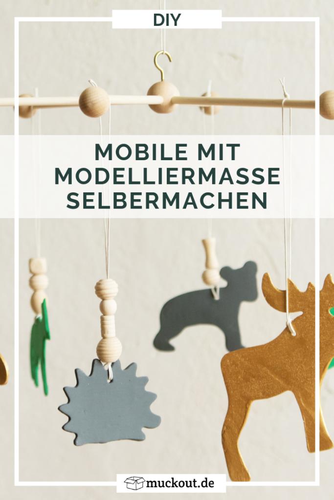 baby mobile selbst machen - diy anleitung für waldtiere aus modelliermasse