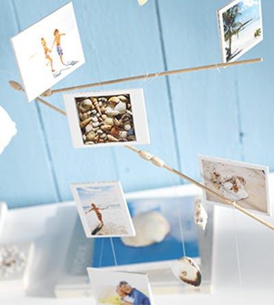 baby mobile selber machen mit foto  abzugen kreatives bastelb fürs babybett und wickeltisch