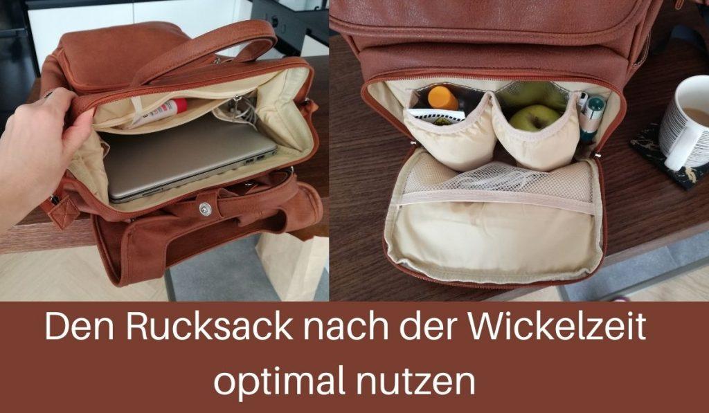 leder wickelrucksack braun nach der wickelzeit weiter benutzen